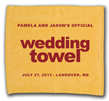 Wedding Towel Example - Baseball Themed Weddings