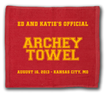 Baseball Wedding Towel Example