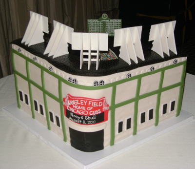 Home of the Chicago Cubs Stadium Cake