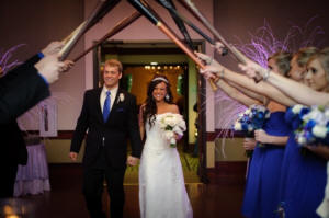 Wedding Photo Example - Baseball Bat Archway