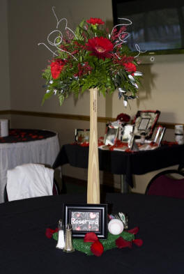 Sports themed weddings sports themed wedding reception for Athletic banquet decoration ideas
