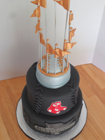 Boston Red Sox Championship Trophy Wedding Cake