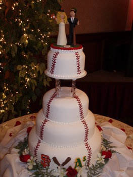 Baseball Wedding Cake Tiered