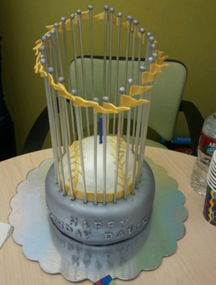 MLB Championship Trophy Wedding Cake