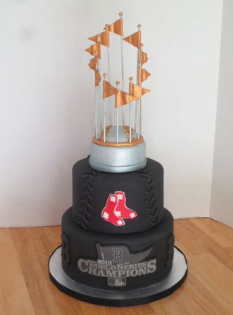 Commissioners Trophy Cake - MLB championship