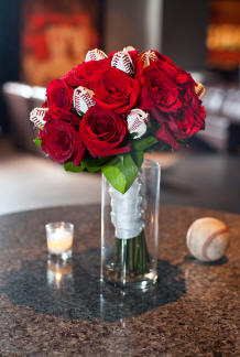 Baseball Rose Centerpiece Idea