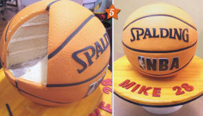 spalding NBA basketball wedding grooms cake