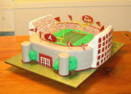 Football Stadium Wedding Cake
