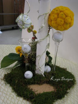 golf theme wedding reception