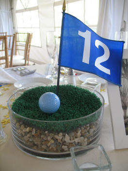 DIY PGA golf reception centerpiece ideas