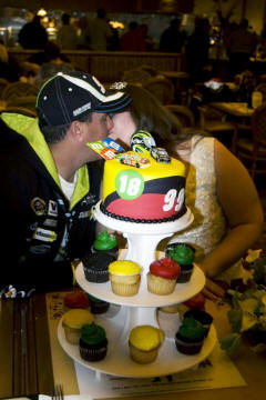 NASCAR Racing themed wedding cake