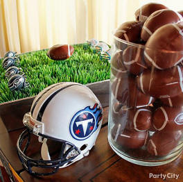 DIY football wedding centerpiece ideas