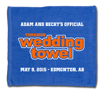 Official Wedding Rally Towel - Edmonton Oilers Fans