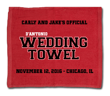 Chicago Blackhawks Official Wedding Raly Towel Example
