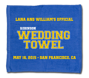 Official Wedding Raly Towel - Golden State Warriors