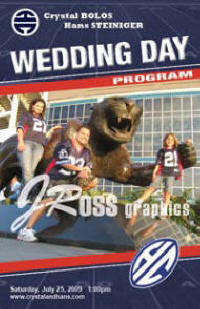 Custom Designed Sports Themed Wedding Programs