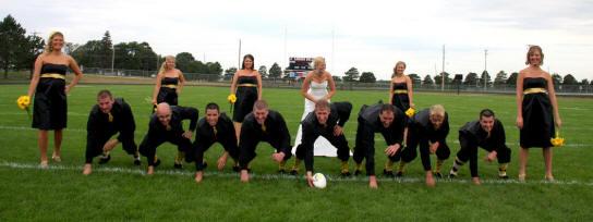 College Football Wedding Theme