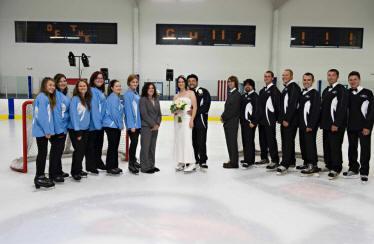Hockey Themed Wedding On Ice