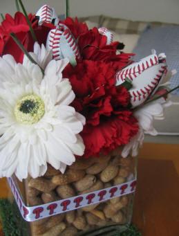 Stwtack Diy Baseball Wedding Centerpiece Ideas Roses